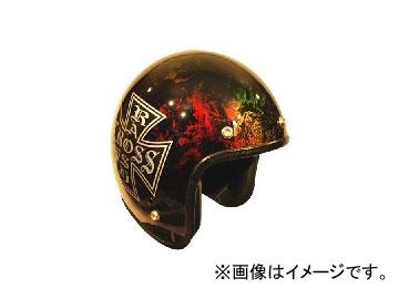 2輪 72JAM JET HELMET ジェットヘルメット JAM CUSTOM PAINTING RASH CROSS RAINBOW JCP-14 JAN:4562286790267