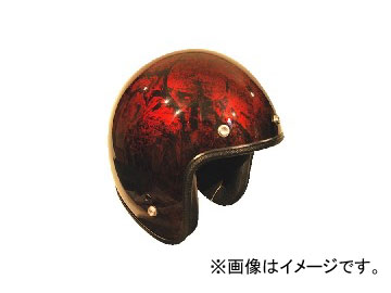 2輪 72JAM JET HELMET ジェットヘルメット JAM CUSTOM PAINTING RASH RD/BR JCP-20 JAN:4562286790328