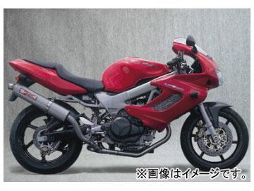 2輪 ヤマモトレーシング spec-A マフラー SLIP-ON UP-TYPE チタン108×500 品番:11003-02UTB ホンダ VTR1000F
