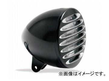 2輪 EASYRIDERS ARLEN NESS 5-3/4in ブレットヘッドライト W/DEEP カットグリル付 ブラック 品番:AN4963 JAN:4548632155621