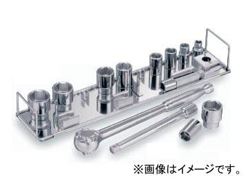 """トネ/TONE 9.5mm(3/8"""") SUSソケットレンチセット 13点 品番:S3103S"""