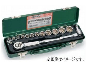 """トネ/TONE 9.5mm(3/8"""") ソケットレンチセット 17点 品番:1570MS"""