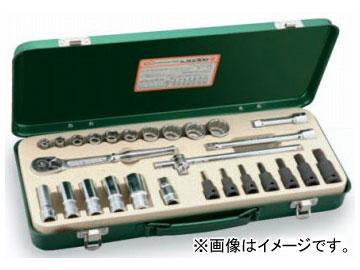 """トネ/TONE 9.5mm(3/8"""") ミックスソケットレンチセット 27点 品番:MX300"""