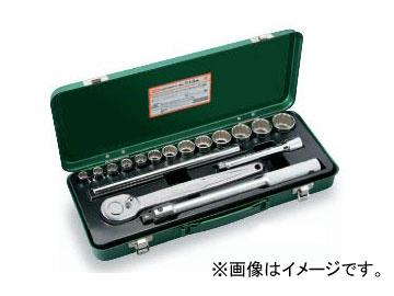 """トネ/TONE 12.7mm(1/2"""") ソケットレンチセット 17点 品番:713M"""