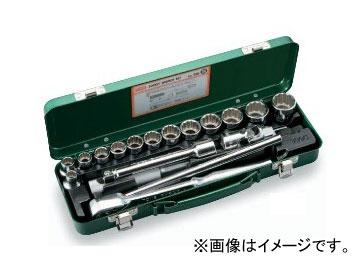 """トネ/TONE 12.7mm(1/2"""") ソケットレンチセット 18点 品番:750"""