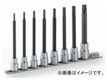 """トネ/TONE 9.5mm(3/8"""") ロングトルクスソケットセット(強力タイプ・ホルダー付) 8点 品番:HTX308L"""