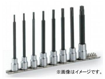 """トネ/TONE 9.5mm(3/8"""") ロングトルクスソケットセット(いじり防止タイプ・ホルダー付) 8点 品番:HTX308HL"""