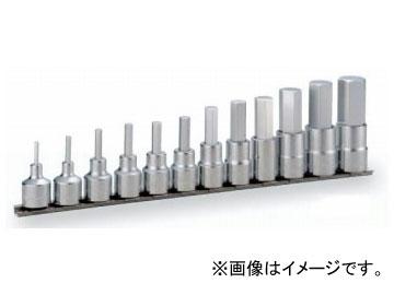 """トネ/TONE 12.7mm(1/2"""") ヘキサゴンソケットセット(ホルダー付) 12点 品番:HH412"""