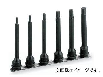 """トネ/TONE 12.7mm(1/2"""") インパクト用ロングヘキサゴンソケットセット(ホルダー付) 6点 品番:HAH406L"""