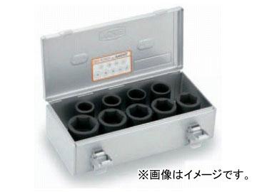 """トネ/TONE 19.0mm(3/4"""") インパクト用ソケットセット(ホイルナット用) 9点 品番:A609T"""