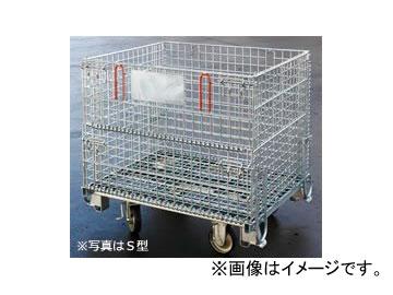 123/伊藤製作所 吊上げ式かご型パレット L型キャスター付 PM-LPC