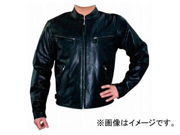 2輪 モトフィールド/MOTO-FIELD パンチングシングルレザージャケット MF-LJ006P ブラック