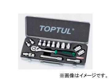 """タスコジャパン TOPTUL 1/2"""" ソケットレンチセット(全15点) TA730WF"""