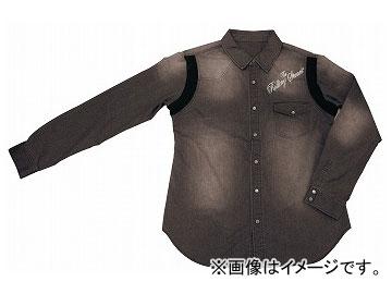 2輪 ダムトラックス/DAMMTRAX THE ROLLING STONES デニムシャツ RSS01 ブラック サイズ:S,M,L