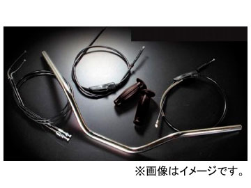 2輪 ラフ&ロード LUKE トラッカーハンドルKIT LK-5205MCHK ヤマハ SR400/500(CVキャブ)
