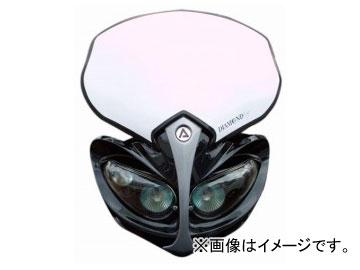 2輪 ラフ&ロード ACERBIS ダイヤモンドヘッドライト ブラック AC-30-01BK