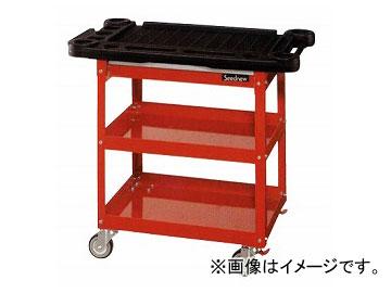 Seednew/シードニュー プロユースサービスカート・赤 A30201C 強度の高い樹脂を採用した天板付