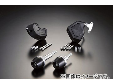 2輪 アグラス リアスライダー 4点セット 品番:P052-3265 ブラック ヤマハ YZF-R6 2008年 JAN:4548664831050