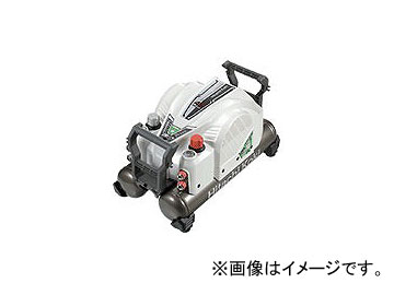 日立工機 高圧エアコンプレッサ(セキュリティ機能付) ホワイト EC1445H2(W)