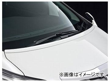 アドミレイション フードスポイラー 塗装済 カラー:ホワイトパールCS070,ブラック202 トヨタ アルファード GGH/ANH/ATH20・25 後期 2011年11月~