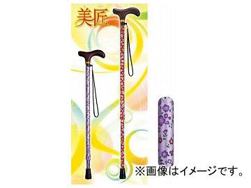 アロン化成 安寿 アルミ製伸縮杖 美匠 小花パープル 532-475 JAN:4970210490037