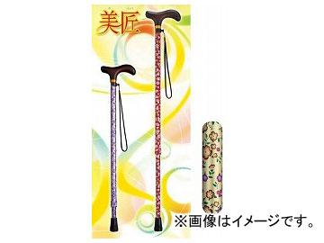 アロン化成 安寿 アルミ製伸縮杖 美匠 小花ベージュ 532-471 JAN:4970210490044