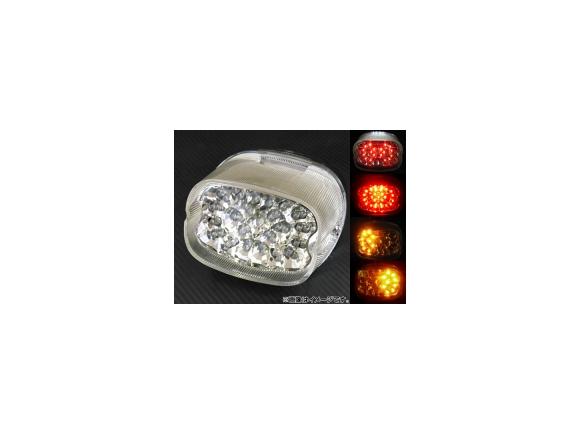 2輪 AP LEDテールランプ クリア ハーレーダビッドソン ソフテイル FXSTD/FLSTN/FLSTS 1996年~2008年