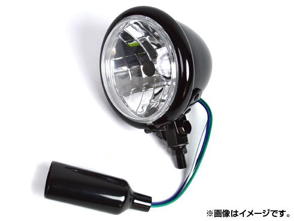 2輪 AP ベーツヘッドライト ブラック 4.5インチ ハーレー汎用 AP-HP-HL45-BEAT