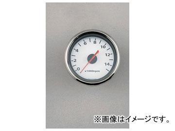 2輪 デイトナ 電気式タコメーター(汎用タイプ/ホワイトLED照明) 15,000rpm/ホワイトパネル 品番:65706 JAN:4909449317938
