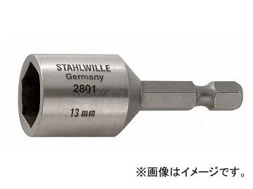 """スタビレー/STAHLWILLE ヘキサゴンソケット 13mm(1/4"""")(28010013) 品番:2801-13 JAN:4018754016839"""