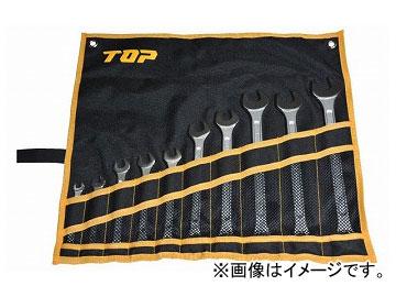トップ工業/TOP コンビネーションレンチセット(工具袋入り10点セット) CW-10000S JAN:4975180700186