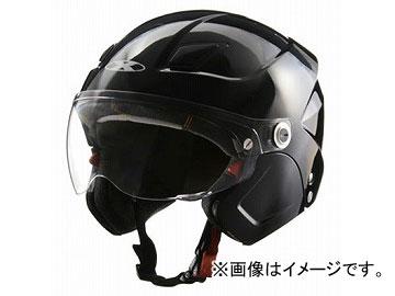 2輪 リード工業 X-AIR システムセミジェットヘルメット ブラック フリーサイズ(57~60cm未満) SOLDAD