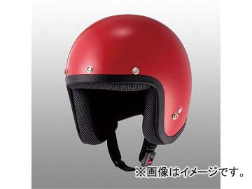 2輪 山城/YAMASHIRO JUQUE プレーンジェットヘルメット FC-021 レッド サイズ:M,L,XL
