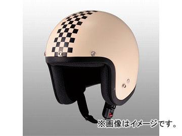 2輪 山城/YAMASHIRO JUQUE チェッカージェットヘルメット FC-023 アイボリー/ブラック サイズ:M,L,XL