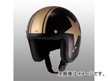 2輪 山城/YAMASHIRO JUQUE スタージェットヘルメット FC-024 ブラック/ゴールド サイズ:M,L,XL