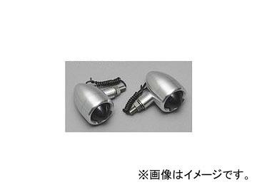 2輪 CF POSH グッドフェローズ アルミ削り出しウインカー 200550-SA チョッパーウインカー シルバーボディ/オレンジレンズ 入数:1セット(左右)