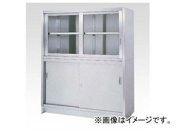 アズワン/AS ONE ステンレス保管庫(上部ガラス戸/下部ステンレス戸) VGタイプ 9060 品番:1-8254-02