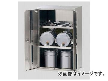 アズワン/AS ONE ラボサーバーラック(薬品保管庫・ペール缶用) LSR-S-P 2列2段 品番:2-674-04 JAN:4571110730867