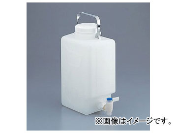 アズワン/AS ONE フッ素加工活栓付角型大型瓶(HDPE製) 2327-0020 品番:1-6487-01
