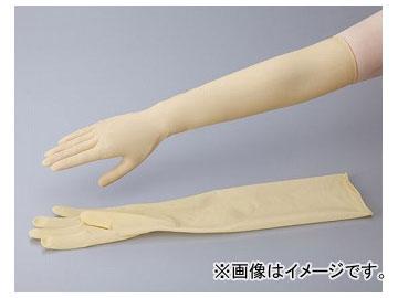 アズワン/AS ONE ラテックスロング手袋(パウダーフリー) サイズ:L,M,S