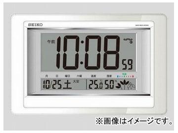 アズワン/AS ONE 温度湿度計付電波デジタル時計(掛置兼用) SQ432W 品番:2-7730-11 JAN:4517228035487
