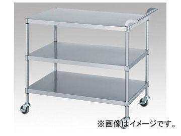 憧れ M03(棚3段) ONE 7545 品番:1-2476-02:オートパーツエージェンシー ステンレスワゴン(SUS430) アズワン/AS-DIY・工具