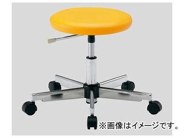 アズワン/AS ONE クリーンカラフルラウンドチェア(クラス100対応) オレンジ LRC-O 品番:2-671-04 JAN:4571110730911