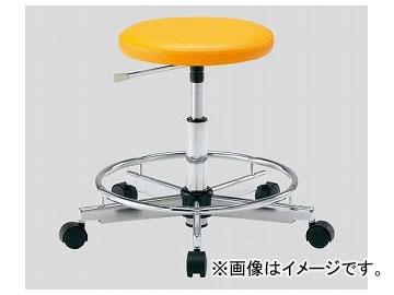 アズワン/AS ONE クリーンカラフルラウンドチェア(クラス100対応) オレンジ LRC-OR 品番:2-672-04 JAN:4571110730959