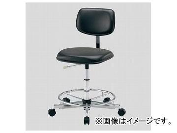 アズワン/AS ONE クリーンカラフルスタンダードチェア(クラス100対応) ブラック LSC-BKR 品番:2-670-01 JAN:4571110731000