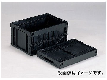 アズワン/AS ONE 折りたたみコンテナー(導電) 40B-N(BK) 品番:1-6406-01 JAN:4983049484016
