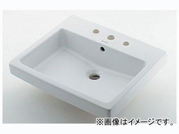 カクダイ 角型洗面器 3ホール 品番:#DU-0315550030 JAN:4972353044948