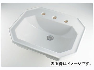 カクダイ 角型洗面器 3ホール 品番:#DU-0476580030 JAN:4972353029624