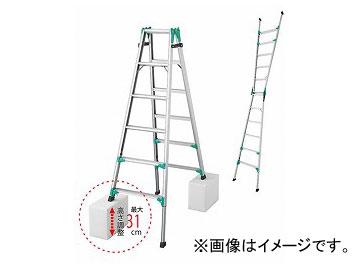 長谷川工業/HASEGAWA 脚部伸縮式脚立 はしご兼用 RYZ1.0-18(16259)