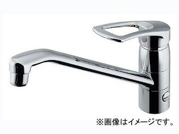 カクダイ シングルレバー混合栓(分水孔つき) 品番:117-063K-180 JAN:4972353032822